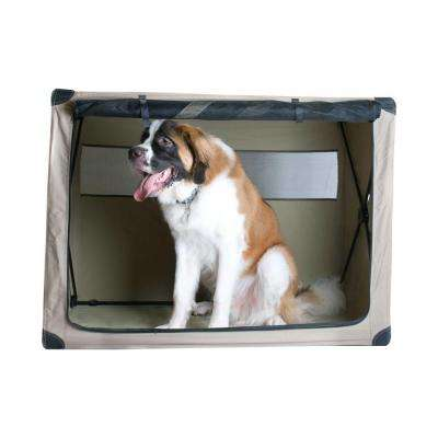 48 in. x 29 in. x 36 in. Extra-Large Dog Digs Patented Collapsible Travel Crate