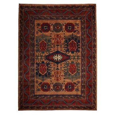 Khyber Rust 7 ft. x 10 ft. Indoor Area Rug
