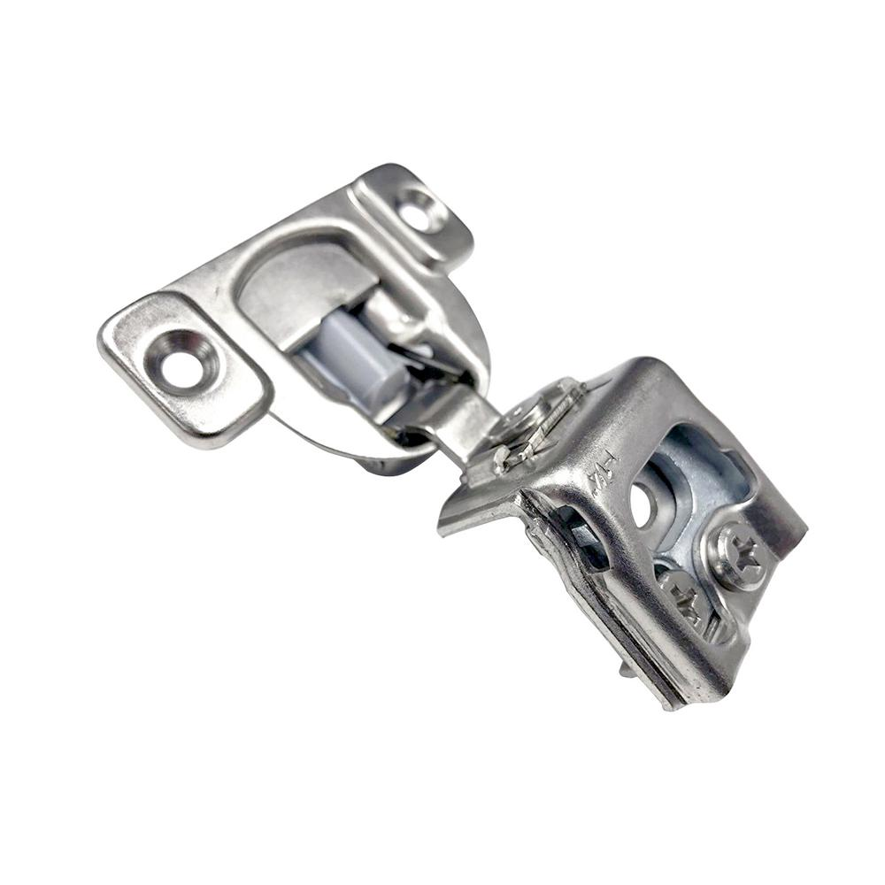 Everbilt 2.3 in. x 3 in. 105-Degree Nickel 1-1/4 in. Overlay Soft-Close Face Frame Hinge (10-Pack)