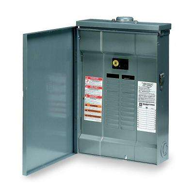 QO 100 Amp 20-Space 20-Circuit Outdoor Main Breaker Plug-On Neutral Load Center with Cover