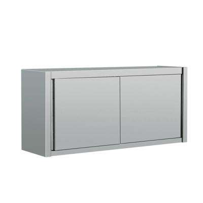 55 in x 16 in x 26 in Stainless Steel Kitchen Utility Table Storage Cabinet with Slding Door