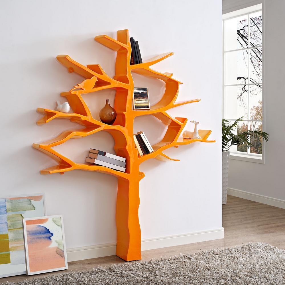 Knowledge Orange Bookcase
