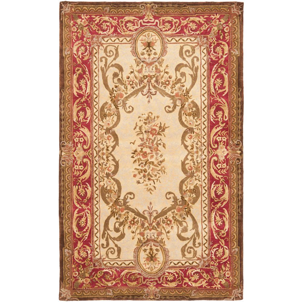 Empire Light Gold/Red 6 ft. x 9 ft. Area Rug
