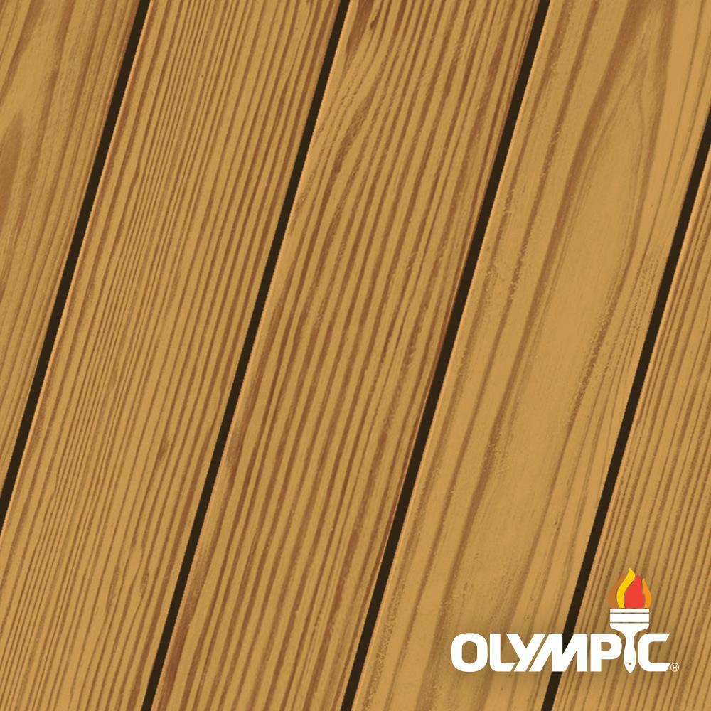 Olympic Elite 3 Gal. Mountain Cedar Woodland Oil Transparent Stain and Sealant in One Low VOC
