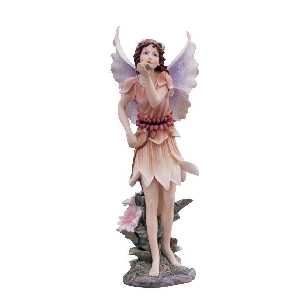 Design Toscano 18.5 in. Fairies of Stratford Blowing a Kiss Garden Statue