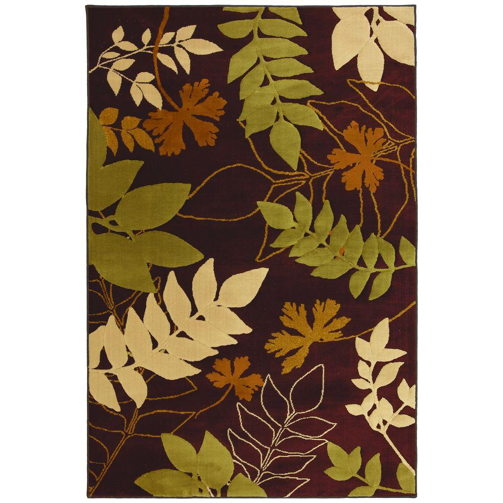 null Hidden Escape Brown 3 ft. 6 in. x 5 ft. 6 in. Area Rug