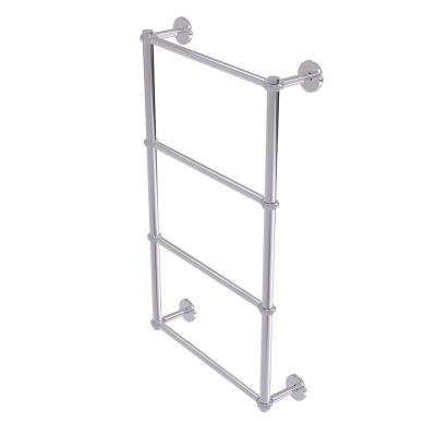 Prestige Skyline Collection 4-Tier 36 in. Ladder Towel Bar with Twisted Detail in Polished Chrome