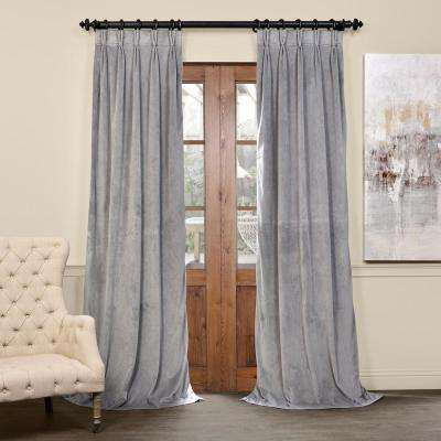 Blackout Signature Silver Grey Pleated - 25 in. W x 84 in. L (1 Panel)