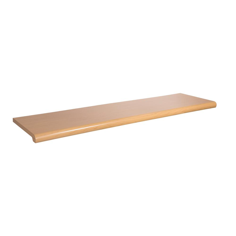 48 in. W x 13 in. D Maple Open-Bottom Bullnose Shelf