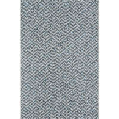 Como Blue 9 ft. 10 in. X 13 ft. 2 in. Indoor/Outdoor Area Rug