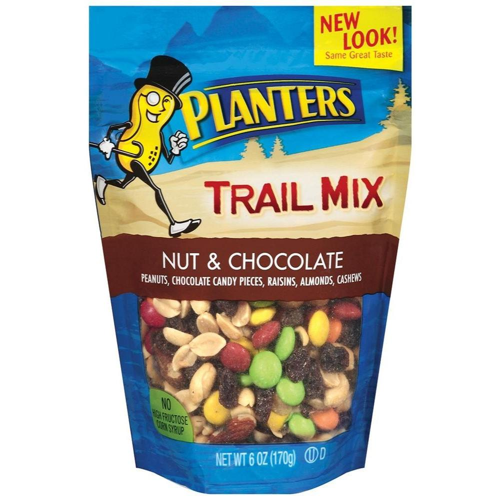 Planters 6 Oz Nut And Chocolate Trail Mix 20046 The
