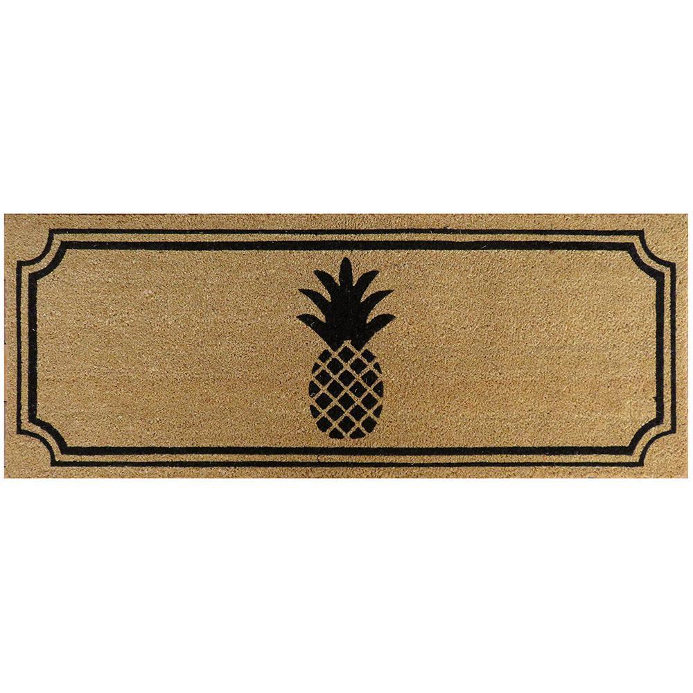 Pineapple 47 in. x 18 in. Slip Resistant Coir Door Mat