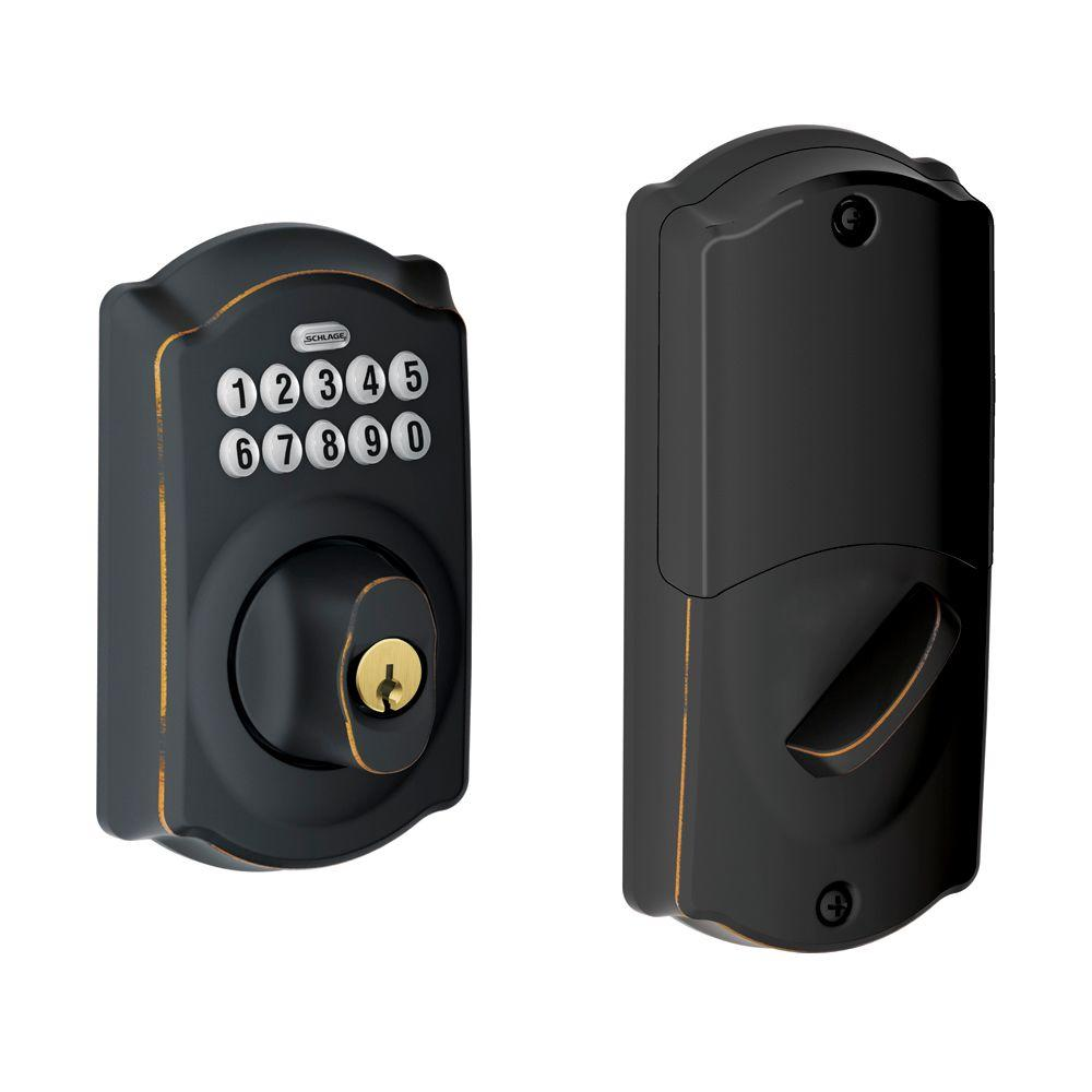 Schlage Aged Bronze Home Keypad Deadbolt with Nexia Home Intelligence