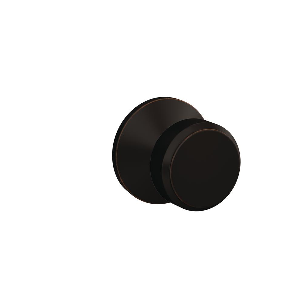 Schlage Bowery Matte Black Passage Hall Closet Door Knob