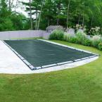 Commercial-Grade 20 ft. x 45 ft. Rectangular Teal Green In Ground Pool Winter Cover