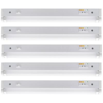 18 in. Plug-in or Direct Wire LED White Under Cabinet Light Grow Mode Color Selectable Light Output Linkable (5-Pack)