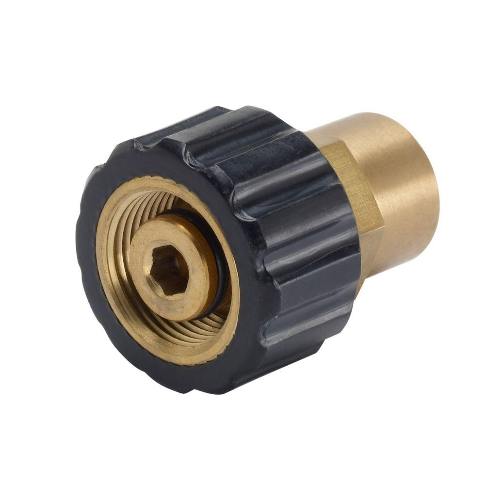 Power Care 3/8 in. Female NPT x Female M22 Connector for Pressure Washer