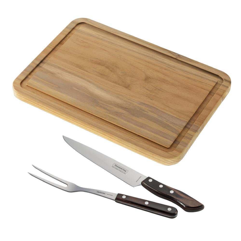 Tramontina Tramontina Churrasco 2-Piece Carving Set and Cutting Board (2-Pack)