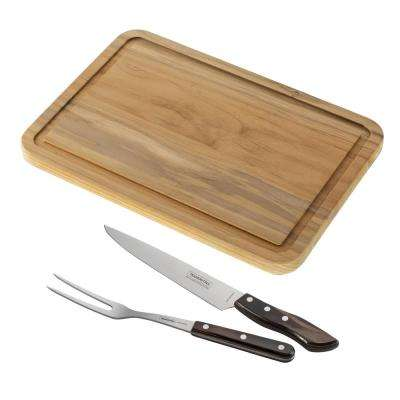 Churrasco 2-Piece Carving Set and Cutting Board (2-Pack)