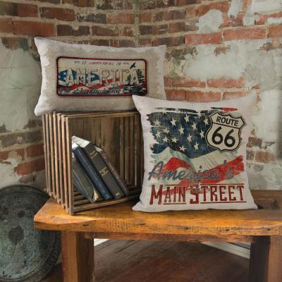 American Spirit Route 66, 18 in. x 18 in. Oyster Pillow Cover