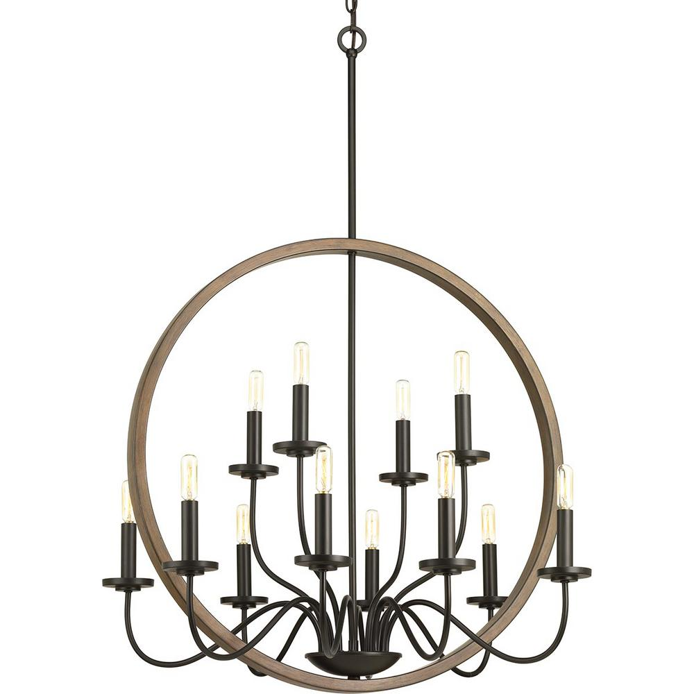 Fontayne Collection 12-Light Antique Bronze Chandelier