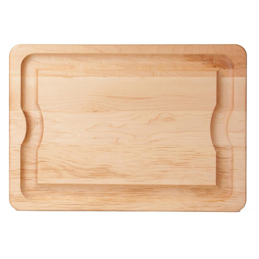 J k adams bbq in maple carving board