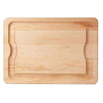 BBQ 20 in. x 14 in. x 1 in. Maple Carving Board