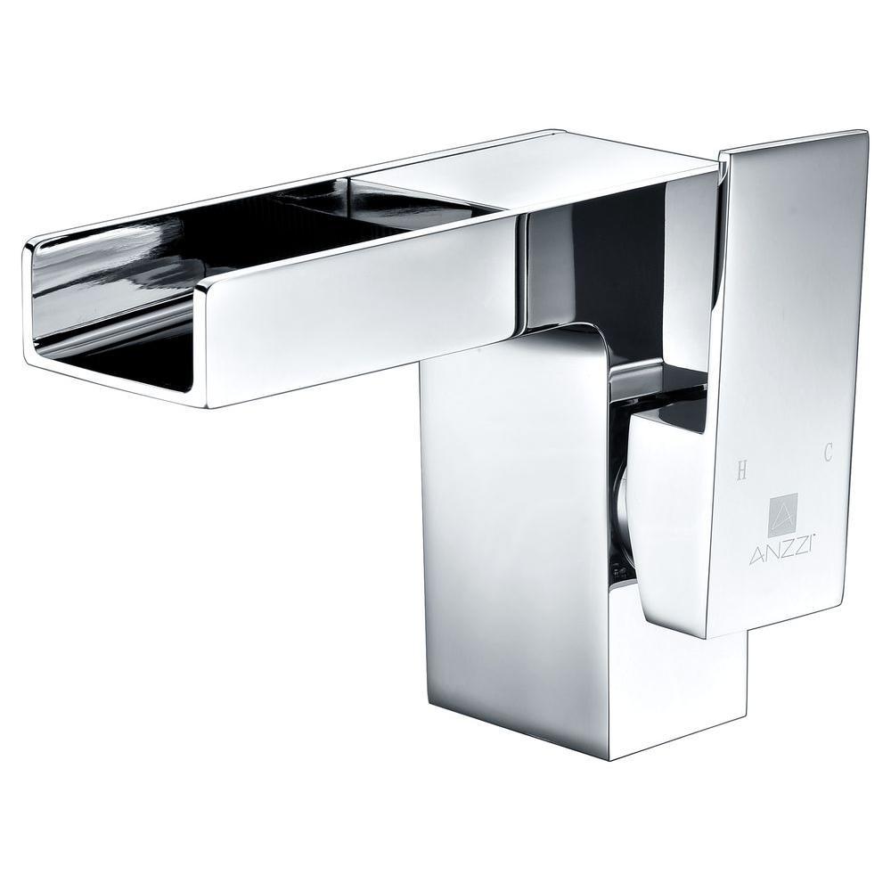 Zhona Series Single Hole Single-Handle Low-Arc Bathroom Faucet in Polished Chrome