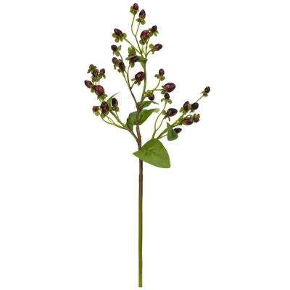 Indoor 17 in. Italian Coffee Bean Artificial Flower (Set of 8)