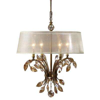 4-Light Gold Chandelier