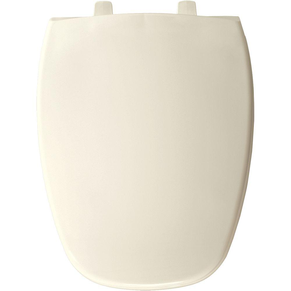 BEMIS Elongated Closed Front Toilet Seat in Biscuit