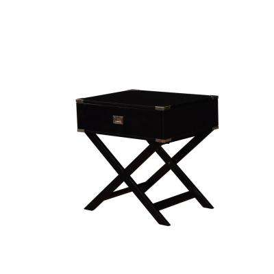 Sara X-Base Black Accent Table