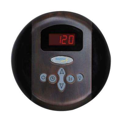Programmable Steam Bath Generator Control Panel with Time and Temperature Presents in Oil Rubbed Bronze