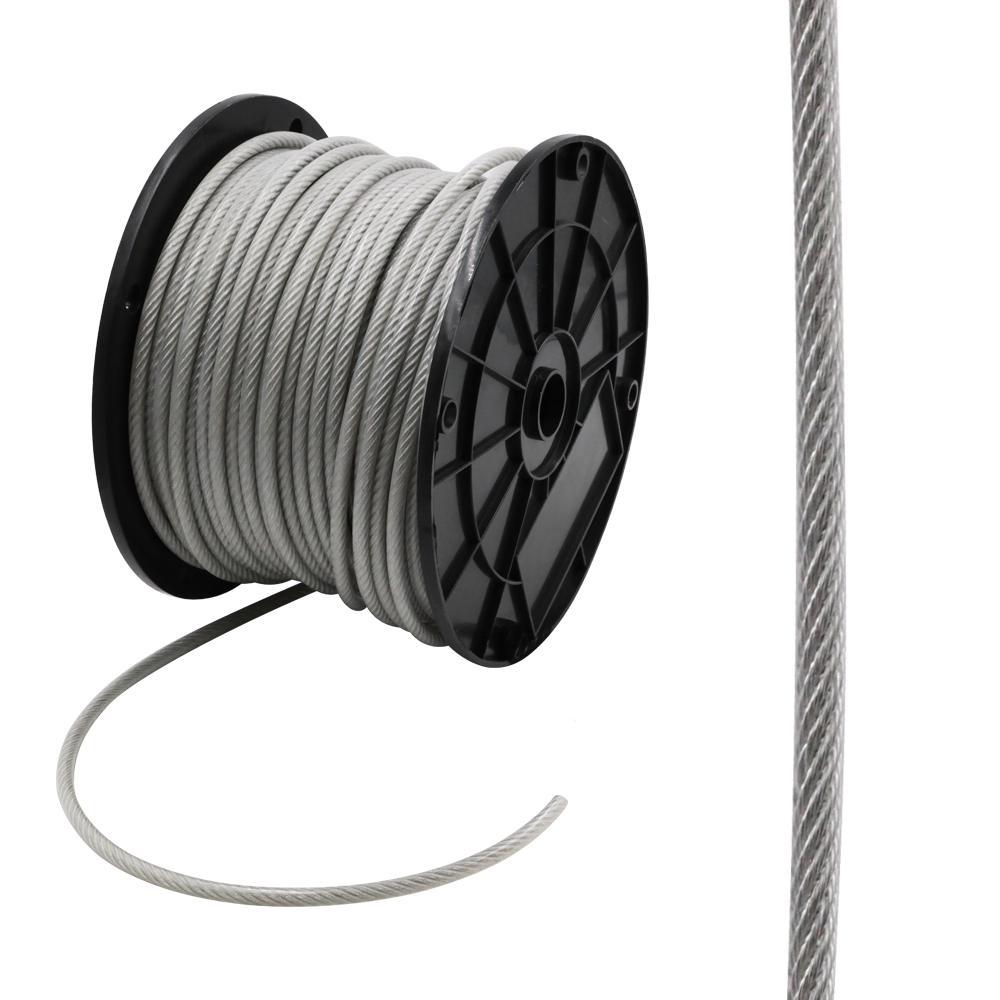 3/16 in. x 250 ft. Galvanized Vinyl Coated Steel Wire Rope