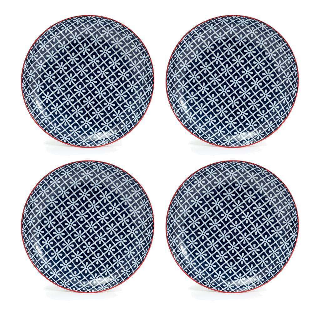 Frida Blue Salad Plate (Set of 4)