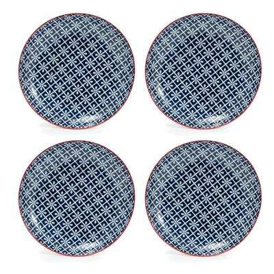 Frida Blue Salad Plate (Set of 4)