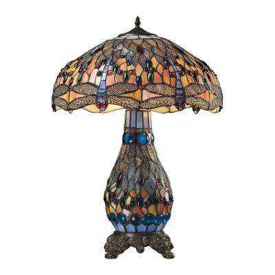 Macquarie Collection 26 in. Dark Bronze Table Lamp