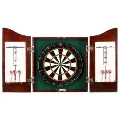 Dark Cherry Centerpoint Solid Wood Dartboard and Cabinet Set