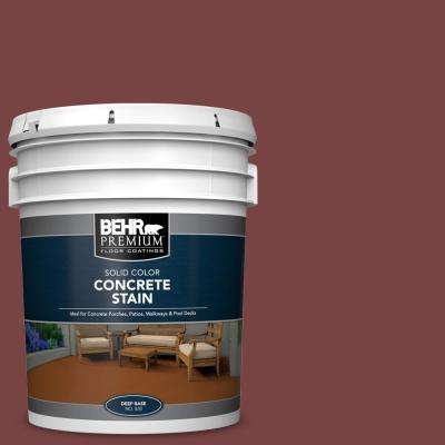 5 gal. #PFC-04 Tile Red Solid Color Flat Interior/Exterior Concrete Stain