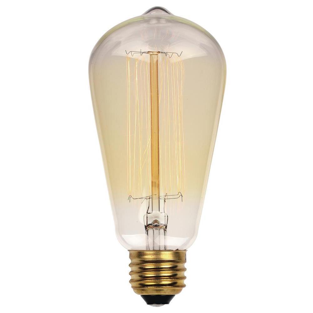 40-Watt Timeless Vintage Inspired Incandescent ST20 Light Bulb