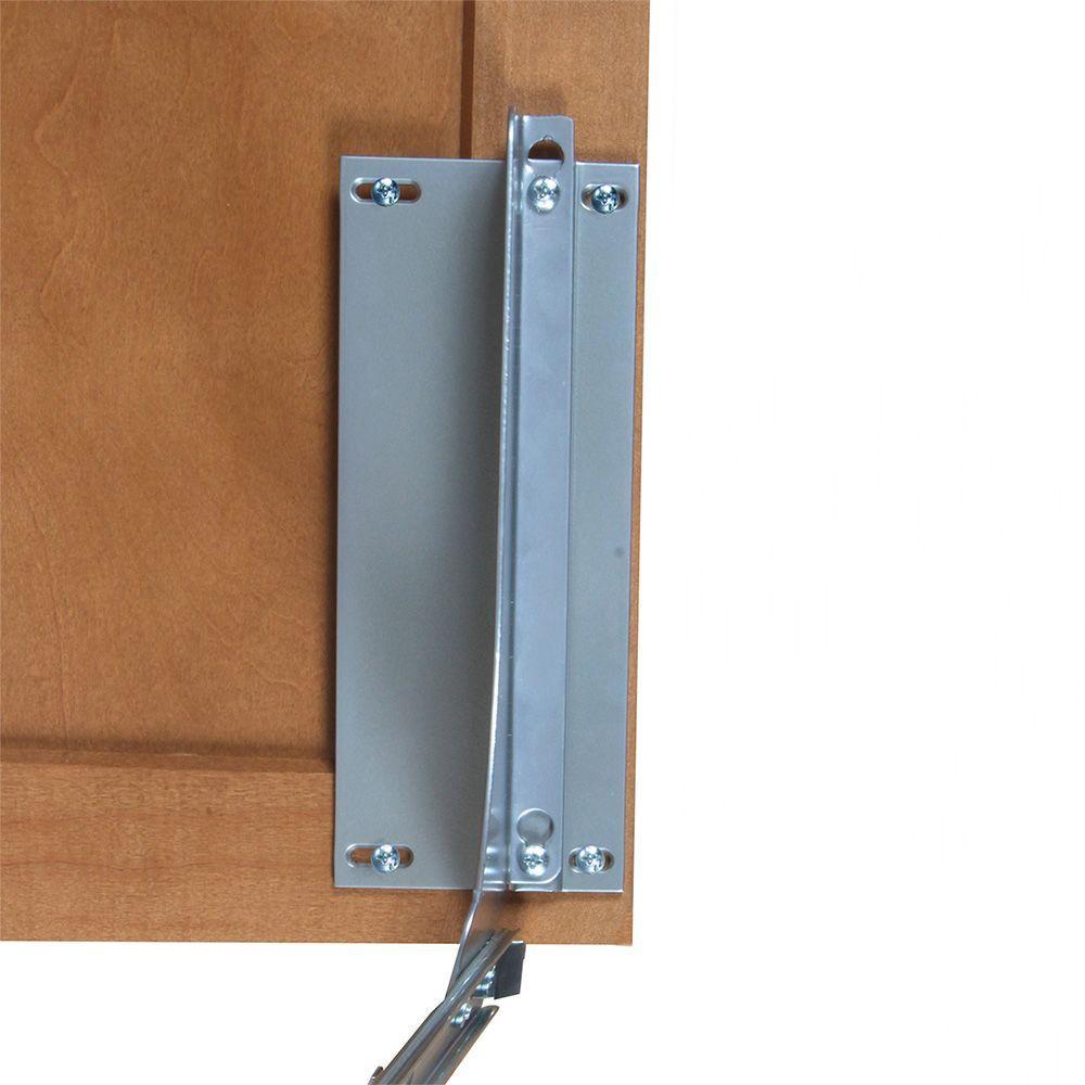 Knape & Vogt 18 inch H x 4 inch W x 23 inch D Door-Mount Trash Can Bracket Kit in Platinum by Knape & Vogt