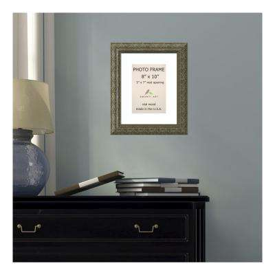 Barcelona 5 in. x 7 in. White Matted Gold Champagne Picture Frame