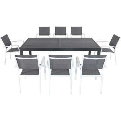 Naples 9-Piece Aluminum Outdoor Dining Set