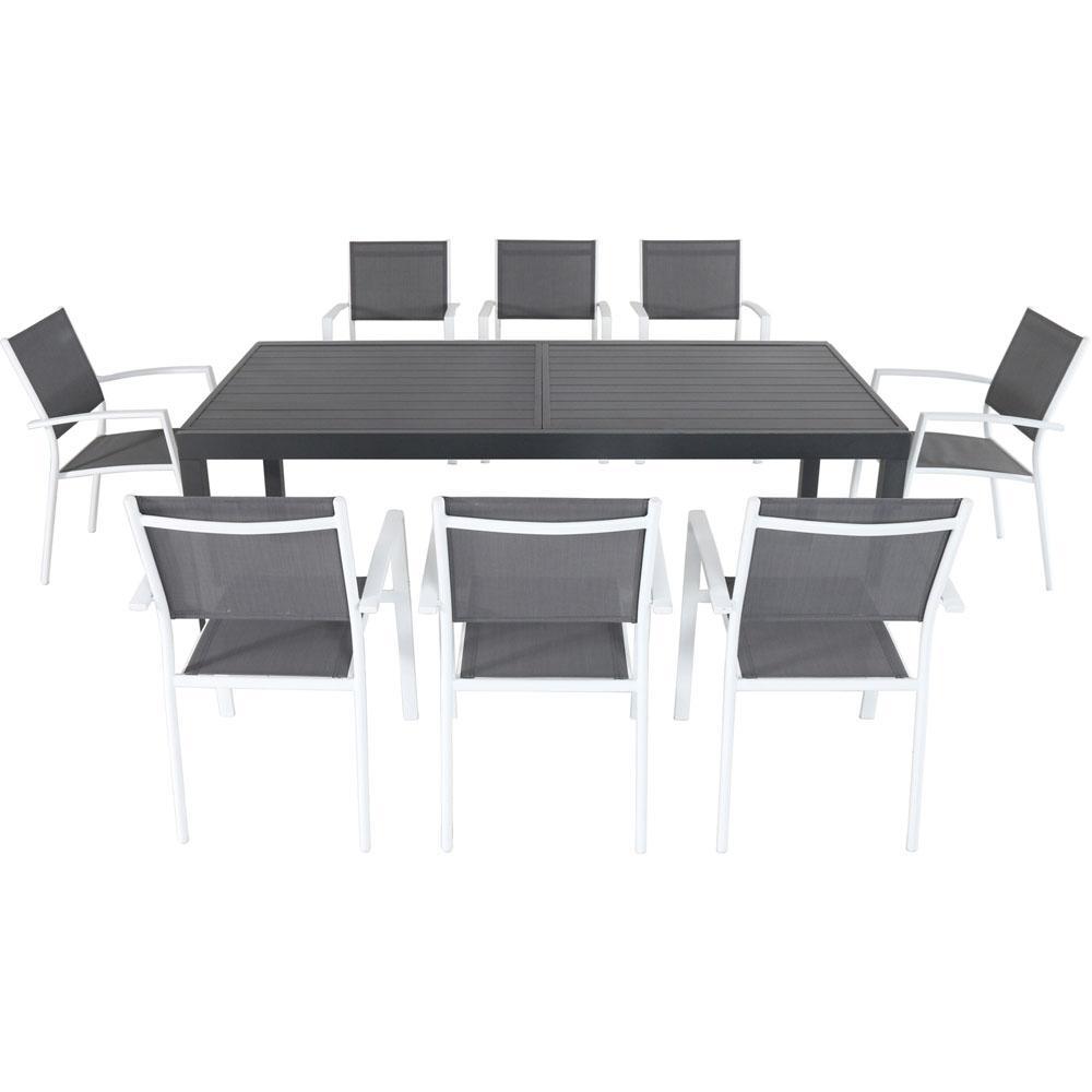 Naples 9-Piece Aluminum Outdoor Dining Set