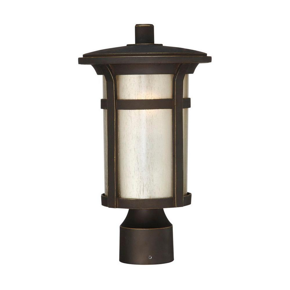 Home decorators collection round craftsman 1 light outdoor dark home decorators collection round craftsman 1 light outdoor dark rubbed bronze post mount lantern mozeypictures Gallery