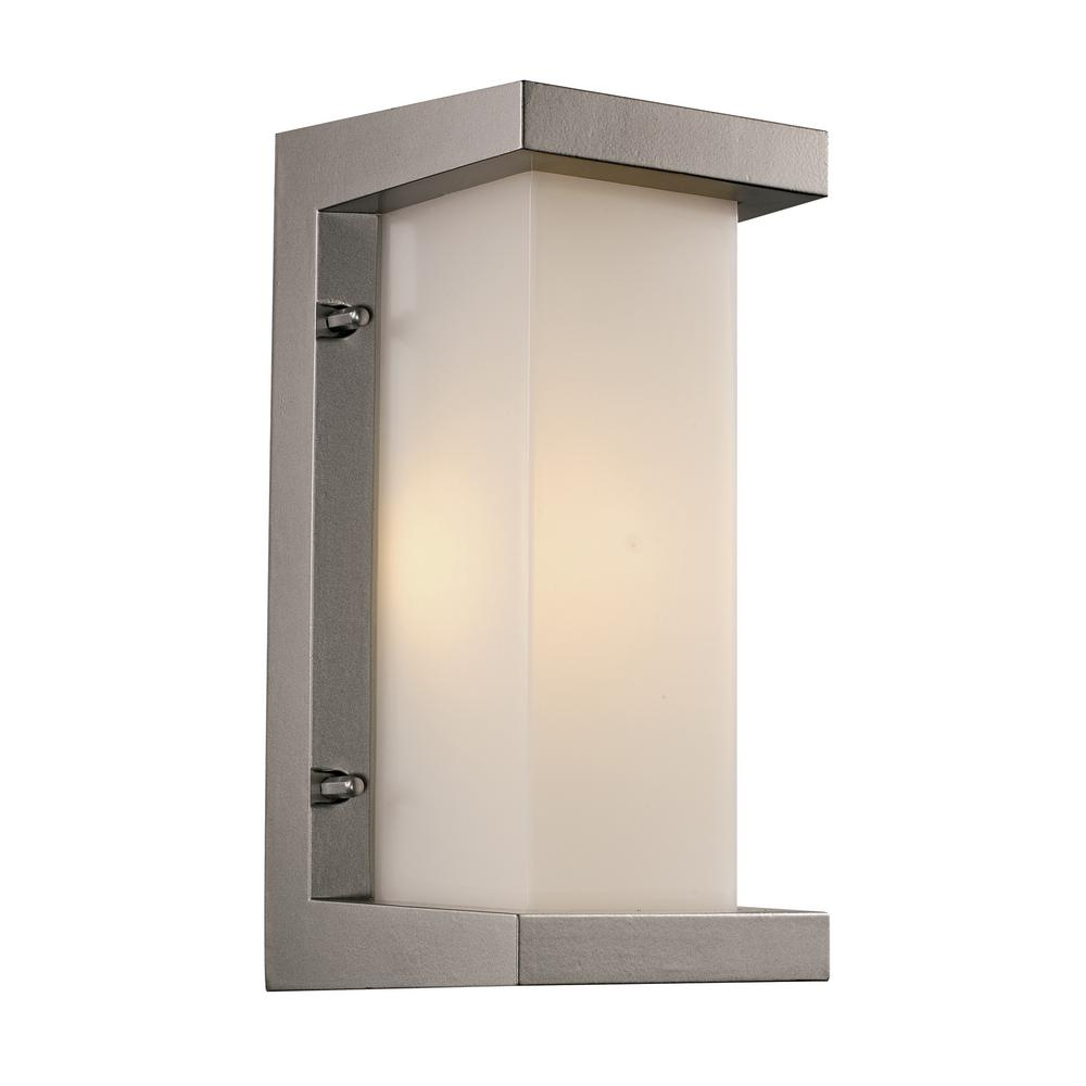 Bel Air Lighting Led Silver Outdoor Integrated Wall Mount Lantern