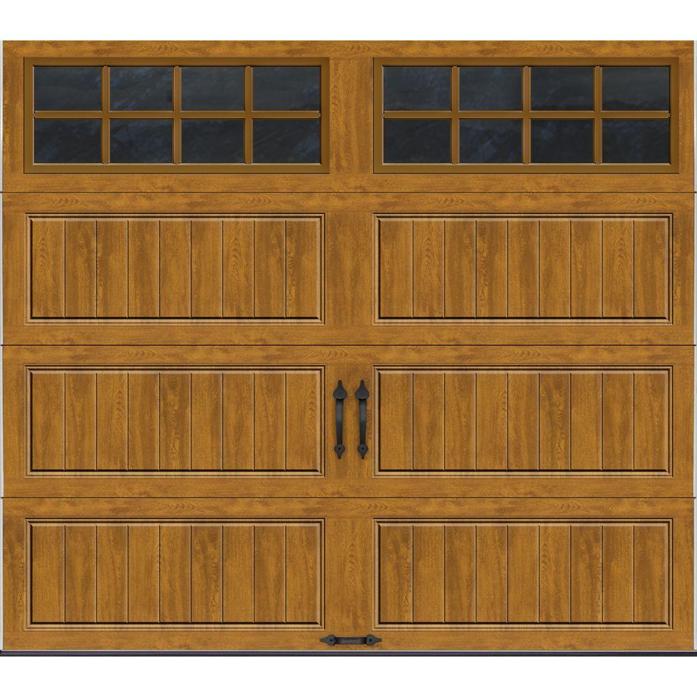 Clopay gallery collection 8 ft x 7 ft 18 4 r value for Insulated garage doors