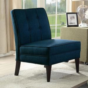Deandra 33 in. Blue Transistional Accent Chair
