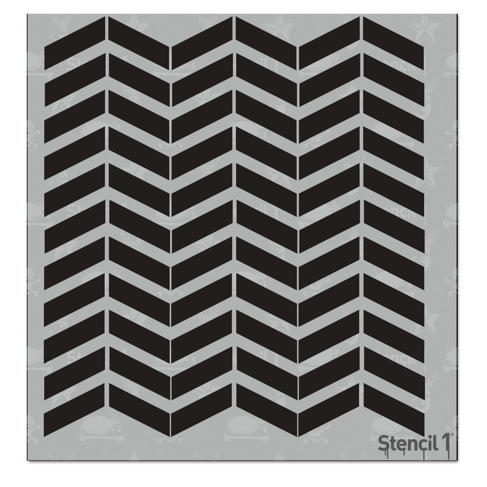 stencil1 chevron small repeat pattern stencil s1 pas 37s the home depot. Black Bedroom Furniture Sets. Home Design Ideas