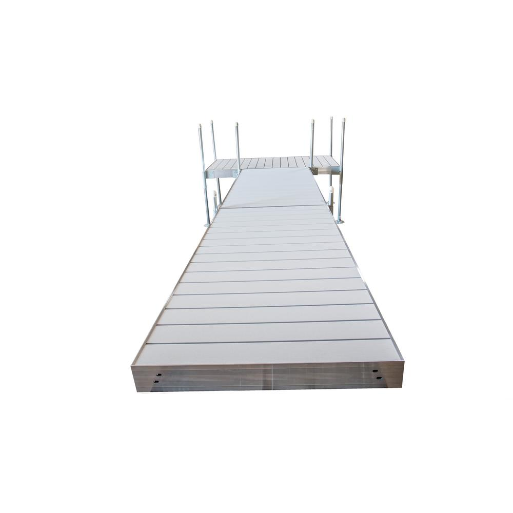 Tommy Docks 20 ft. T-Style Aluminum Frame with Aluminum Decking Platinum Series Complete Dock Package